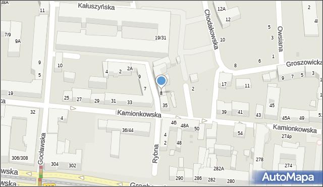 Warszawa, Rybna, 8, mapa Warszawy