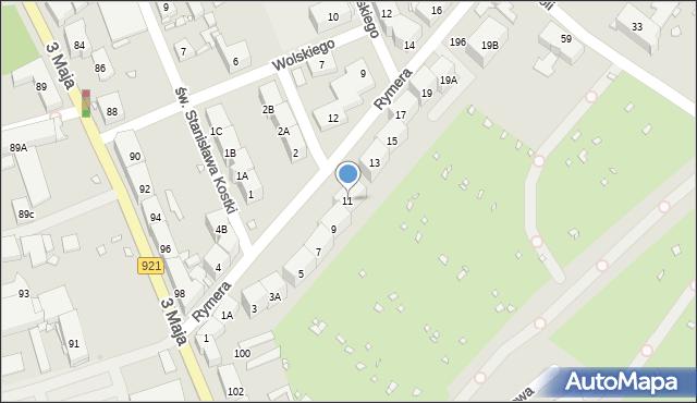 Zabrze, Rymera Józefa, 11, mapa Zabrza
