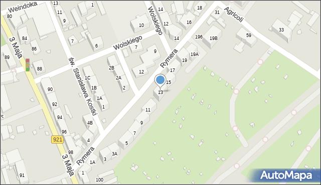 Zabrze, Rymera Józefa, 13, mapa Zabrza