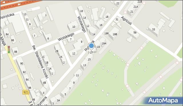 Zabrze, Rymera Józefa, 17, mapa Zabrza