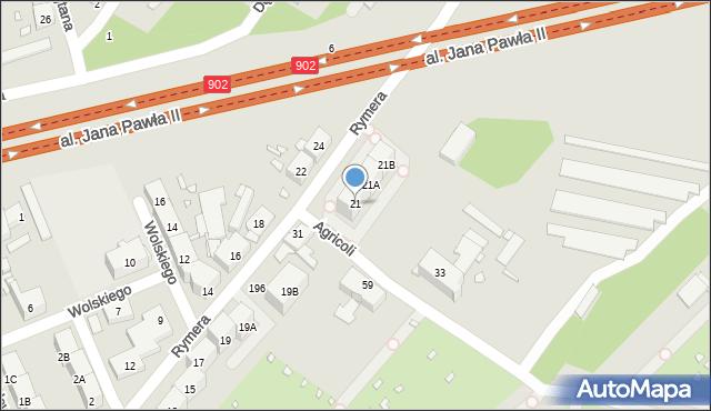Zabrze, Rymera Józefa, 21, mapa Zabrza