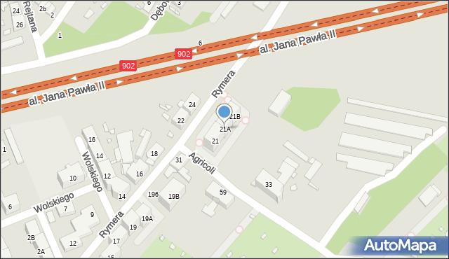 Zabrze, Rymera Józefa, 21A, mapa Zabrza