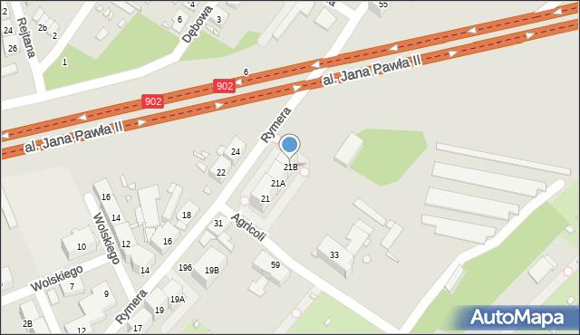Zabrze, Rymera Józefa, 21B, mapa Zabrza