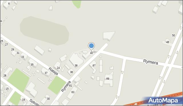 Zabrze, Rymera Józefa, 42, mapa Zabrza