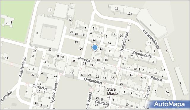 Zamość, Rynek Solny, 2, mapa Zamościa