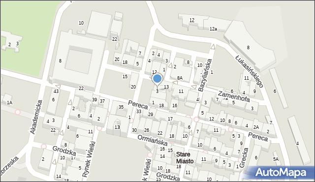 Zamość, Rynek Solny, 3, mapa Zamościa