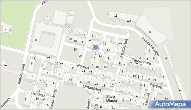 Zamość, Rynek Solny, 4, mapa Zamościa