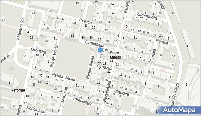 Zamość, Rynek Wielki, 12, mapa Zamościa