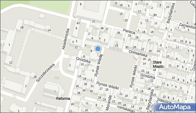 Zamość, Rynek Wielki, 7a, mapa Zamościa