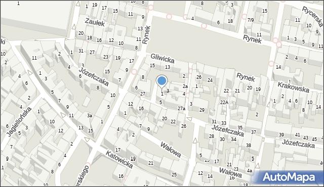 Bytom, Rzeźnicza, 1, mapa Bytomia