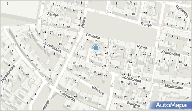 Bytom, Rzeźnicza, 3, mapa Bytomia