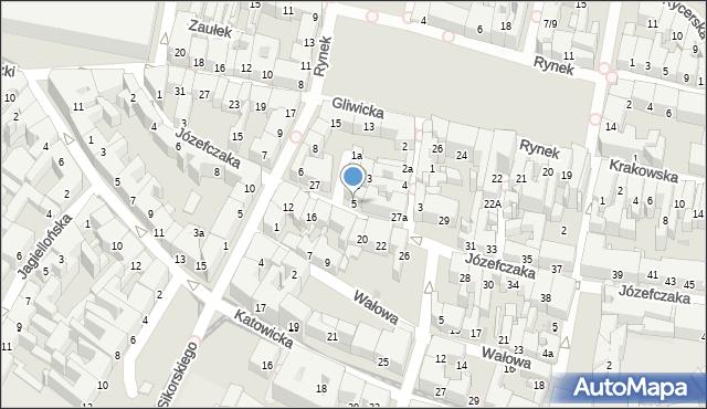 Bytom, Rzeźnicza, 5, mapa Bytomia