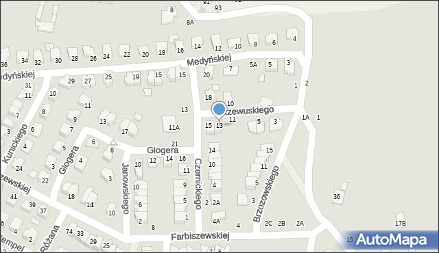 Chełm, Rzewuskiego Wacława, 13, mapa Chełma