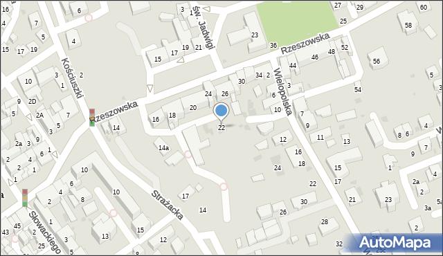 Dębica, Rzeszowska, 22, mapa Dębicy