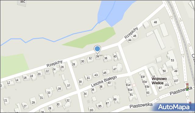 Gdańsk, Rzepichy, 34, mapa Gdańska