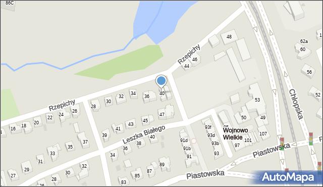 Gdańsk, Rzepichy, 40, mapa Gdańska