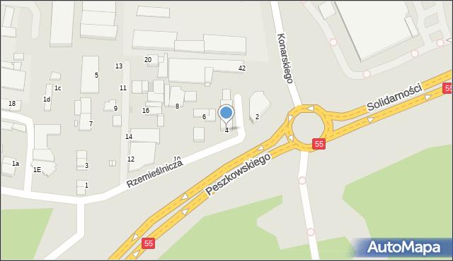 Grudziądz, Rzemieślnicza, 4, mapa Grudziądza