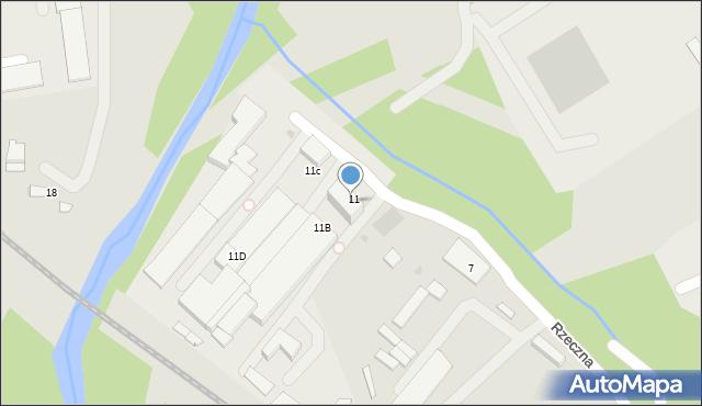 Limanowa, Rzeczna, 11A, mapa Limanowa