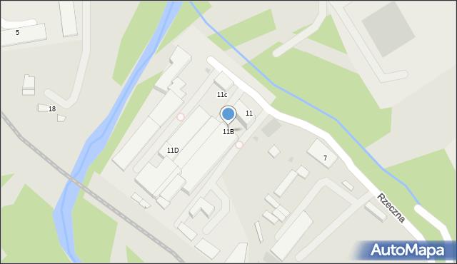Limanowa, Rzeczna, 11B, mapa Limanowa