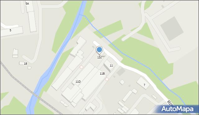 Limanowa, Rzeczna, 11c, mapa Limanowa
