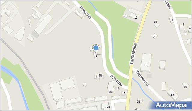 Limanowa, Rzeczna, 3, mapa Limanowa