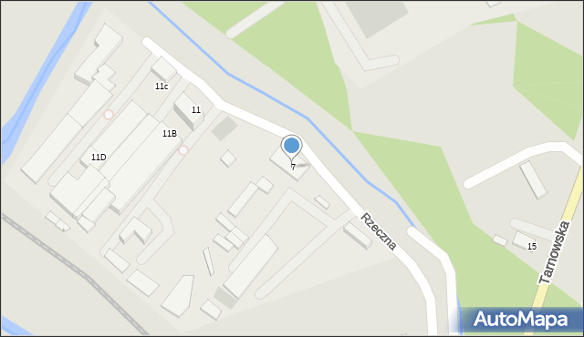 Limanowa, Rzeczna, 7, mapa Limanowa