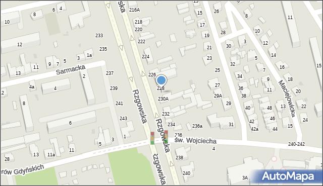 Łódź, Rzgowska, 230, mapa Łodzi