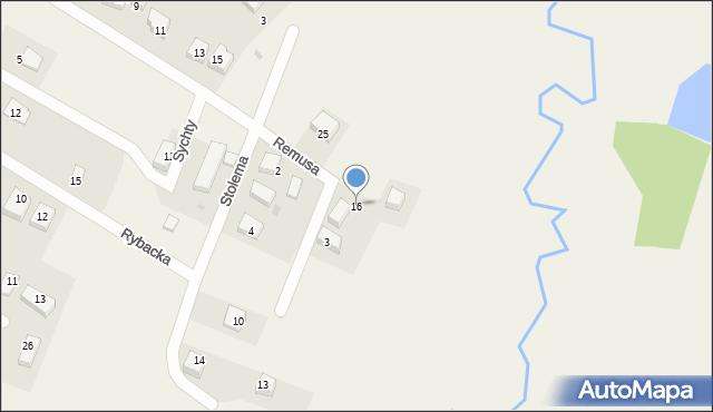 Luzino, Rzeczna, 16, mapa Luzino