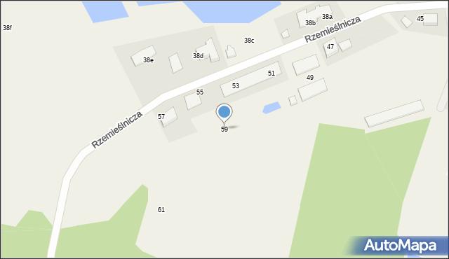 Mała Nieszawka, Rzemieślnicza, 59, mapa Mała Nieszawka