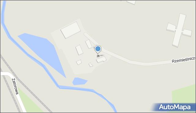 Olecko, Rzemieślnicza, 16, mapa Olecko