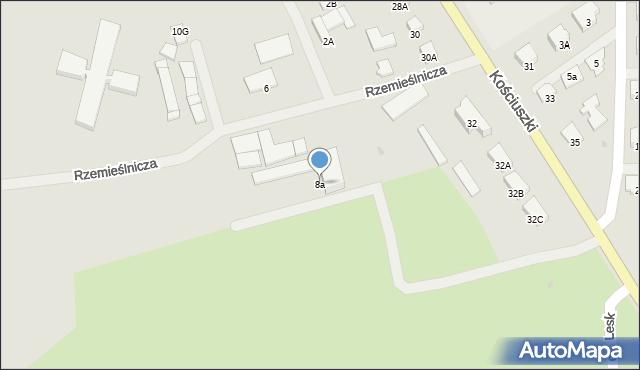 Olecko, Rzemieślnicza, 8a, mapa Olecko