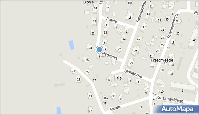Opole Lubelskie, Rzeczna, 3, mapa Opole Lubelskie