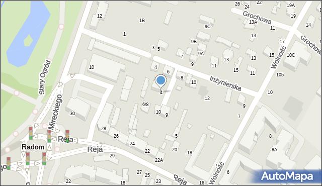 Radom, Rzemieślnicza, 4, mapa Radomia