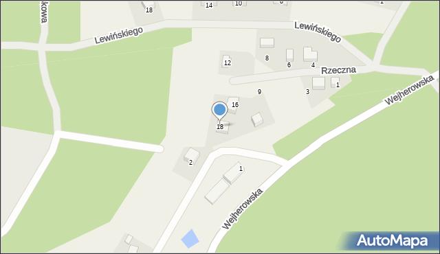 Robakowo, Rzeczna, 18, mapa Robakowo