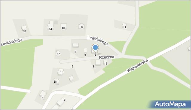 Robakowo, Rzeczna, 4, mapa Robakowo
