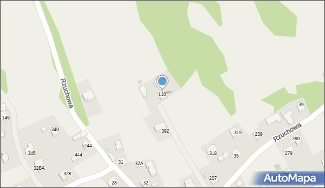 Rzuchowa, Rzuchowa, 110, mapa Rzuchowa