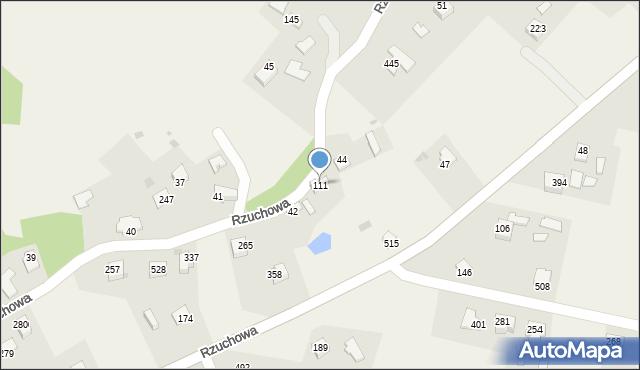 Rzuchowa, Rzuchowa, 111, mapa Rzuchowa
