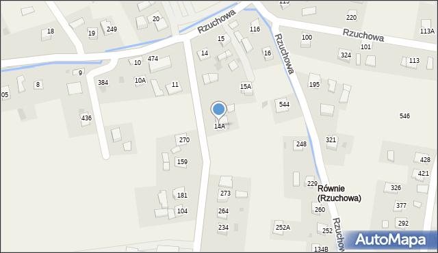 Rzuchowa, Rzuchowa, 14A, mapa Rzuchowa