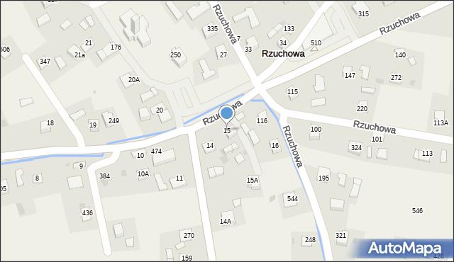 Rzuchowa, Rzuchowa, 15, mapa Rzuchowa