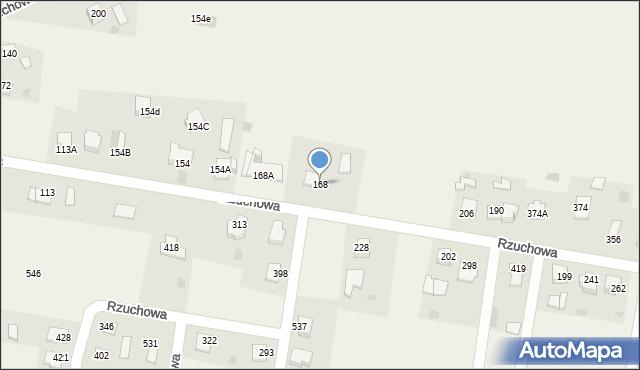 Rzuchowa, Rzuchowa, 168, mapa Rzuchowa