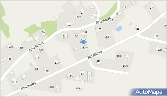 Rzuchowa, Rzuchowa, 174, mapa Rzuchowa