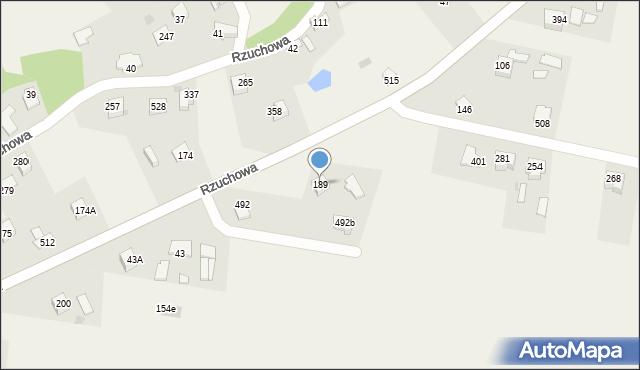 Rzuchowa, Rzuchowa, 189, mapa Rzuchowa
