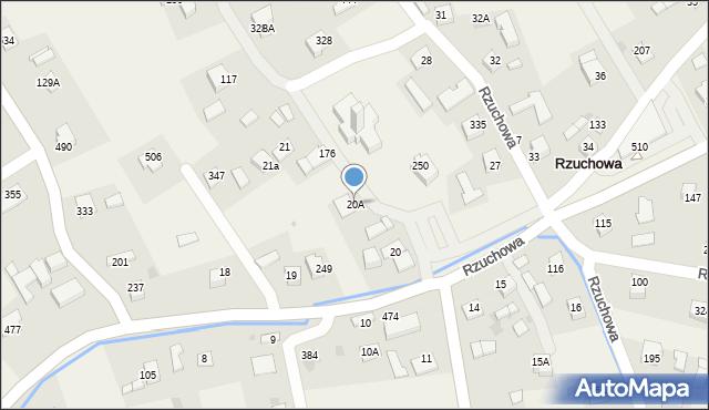 Rzuchowa, Rzuchowa, 20A, mapa Rzuchowa