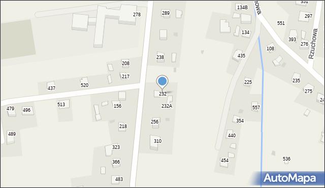 Rzuchowa, Rzuchowa, 232, mapa Rzuchowa