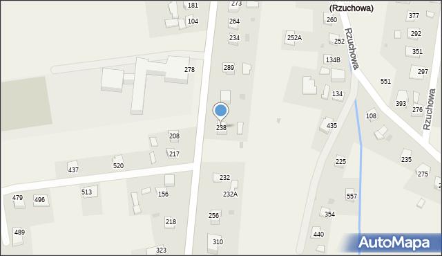 Rzuchowa, Rzuchowa, 238, mapa Rzuchowa