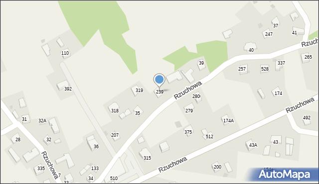 Rzuchowa, Rzuchowa, 239, mapa Rzuchowa