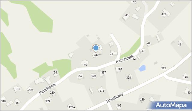 Rzuchowa, Rzuchowa, 247, mapa Rzuchowa