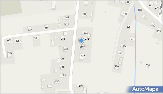Rzuchowa, Rzuchowa, 256, mapa Rzuchowa