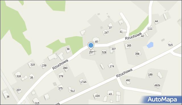 Rzuchowa, Rzuchowa, 257, mapa Rzuchowa