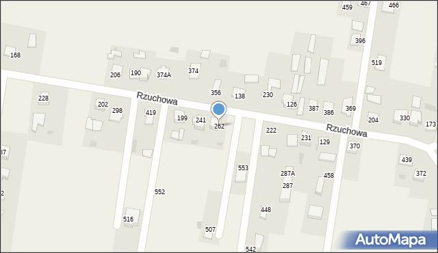 Rzuchowa, Rzuchowa, 262, mapa Rzuchowa